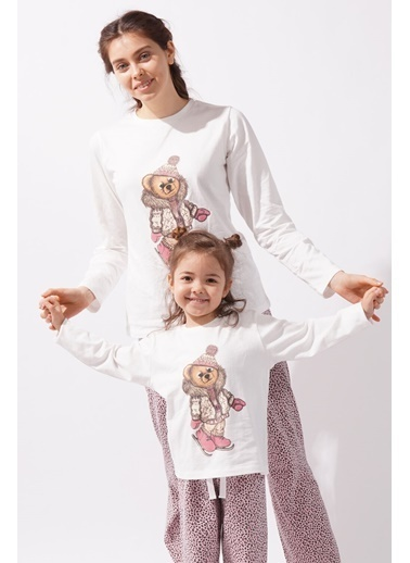 Katia & Bony Teddy Bear Kadın Pijama Takımı - Ekru Ekru